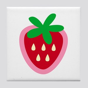 Strawberry Solitaire Tile Coaster