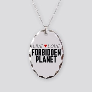 Live Love Forbidden Planet Necklace Oval Charm