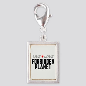 Live Love Forbidden Planet Silver Portrait Charm