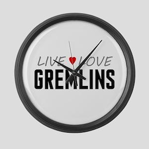 Live Love Gremlins Large Wall Clock