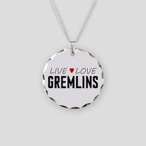 Live Love Gremlins Necklace Circle Charm