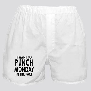 I Want To Punch Monday In The Face Boxer Shorts