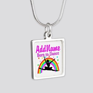 BORN DANCING Silver Square Necklace