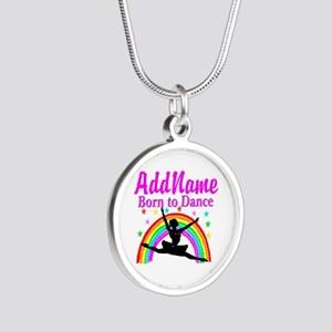 BORN DANCING Silver Round Necklace