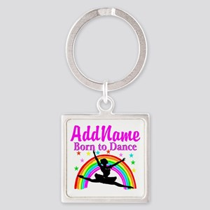 BORN DANCING Square Keychain