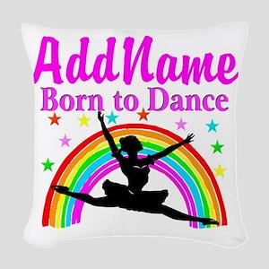 BORN DANCING Woven Throw Pillow
