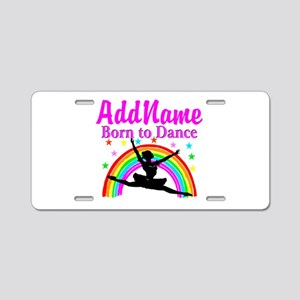 BORN DANCING Aluminum License Plate