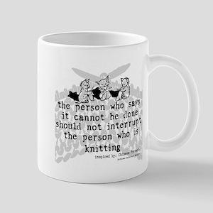 Knitting Chinese Proverb Mug