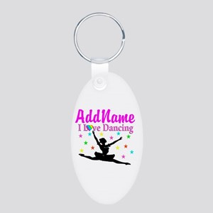 FOREVER DANCING Aluminum Oval Keychain