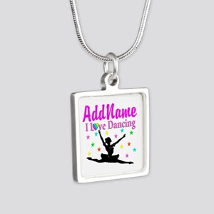FOREVER DANCING Silver Square Necklace