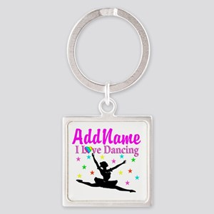 FOREVER DANCING Square Keychain
