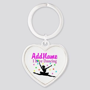 FOREVER DANCING Heart Keychain