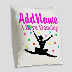 FOREVER DANCING Burlap Throw Pillow