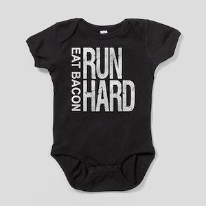 Run Hard Eat Bacon Baby Bodysuit