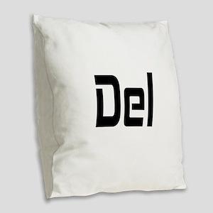 CTRL____ALT____DEL Burlap Throw Pillow