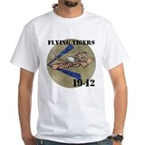 Flying tigers Mens Classic White T-Shirts