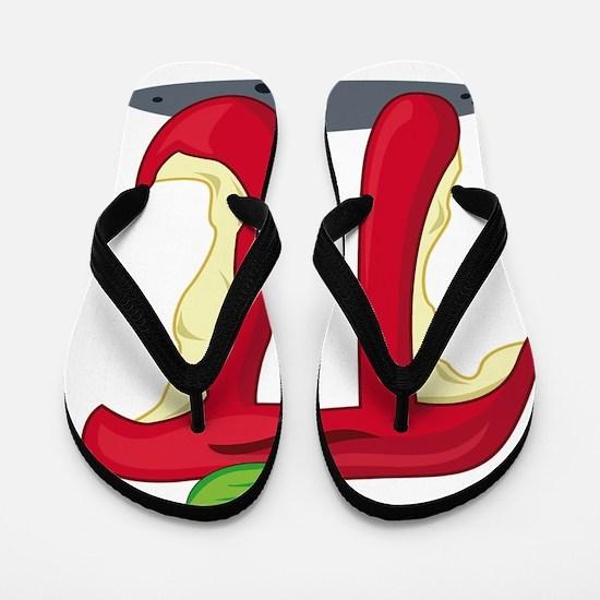 Cute Apple pie Flip Flops