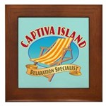 Captiva Island Relax - Framed Tile