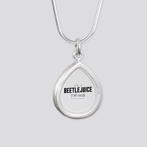 It's a Beetlejuice Thing Silver Teardrop Necklace