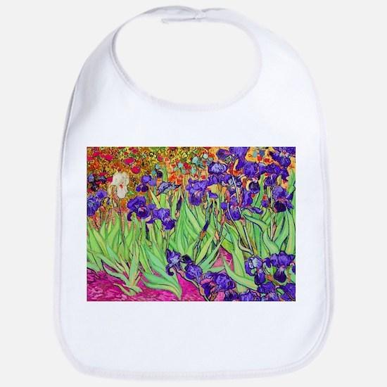 van gogh purple iris Bib