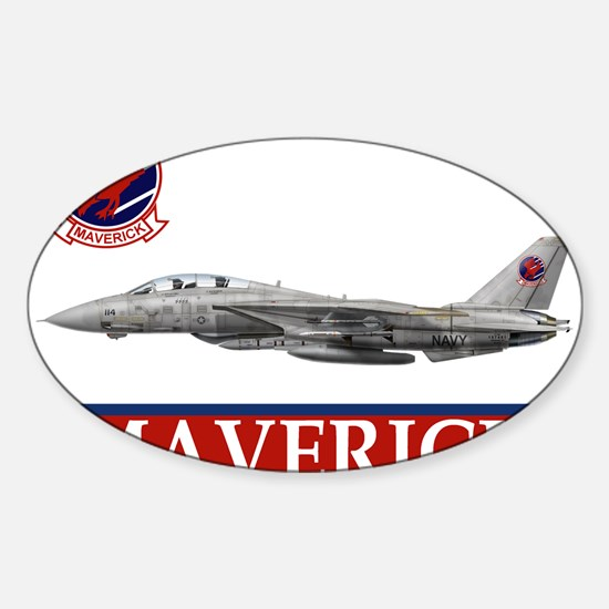 Top Gun Oval Decal