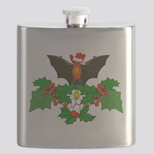 Christmas Holly With Bat Flask