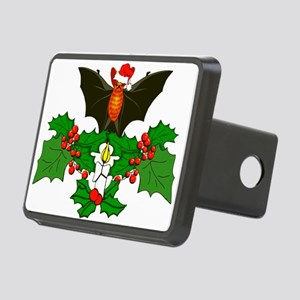 Christmas Holly With Bat Rectangular Hitch Cover