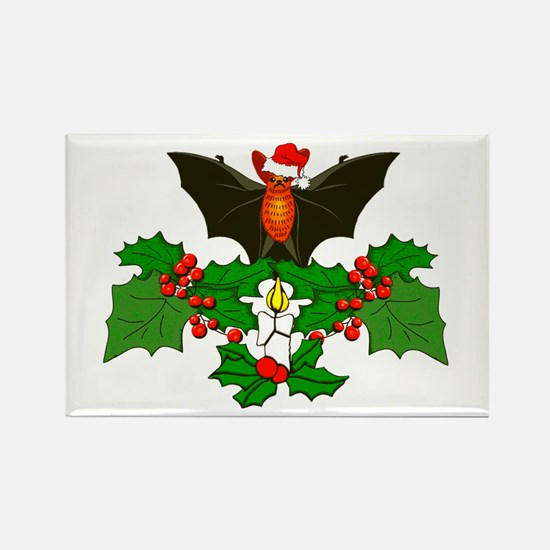 Christmas Holly With B Rectangle Magnet (100 pack)