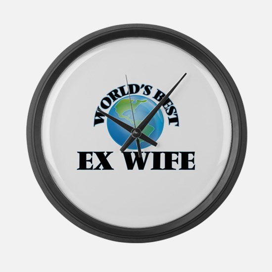 World's Best Ex-Wife Large Wall Clock