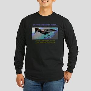 Fly The Friendly Skies... Long Sleeve Dark T-Shirt