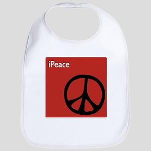 iPeace Symbol Red Bib