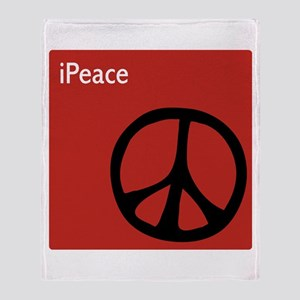 iPeace Symbol Red Throw Blanket