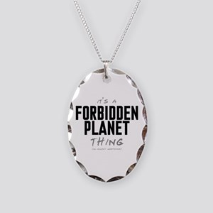 It's a Forbidden Planet Thing Necklace Oval Charm