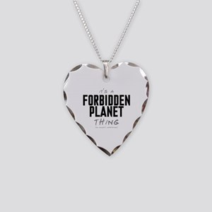 It's a Forbidden Planet Thing Necklace Heart Charm
