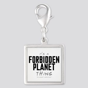 It's a Forbidden Planet Thing Silver Square Charm