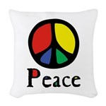 Flowing Peace Colour Woven Throw Pillow