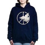 Peace Sign & Dove  Women's Hooded Sweatshirt
