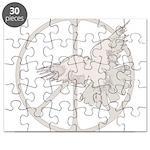 Peace Sign & Dove  Puzzle