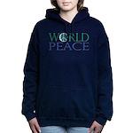 World Peace Full Whiteshirt Women's Hooded Swe
