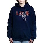 Love Peace V Women's Hooded Sweatshirt