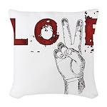 Love Peace V Woven Throw Pillow