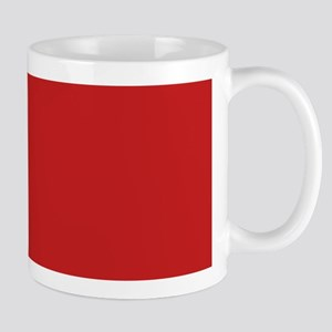 Solid Red Accent Color Pattern Mug