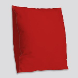 Solid Red Accent Color Pattern Burlap Throw Pillow