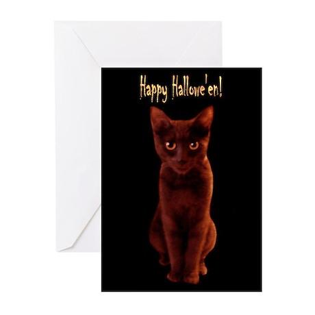 Happy Halloween Cat Greeting Cards (6)