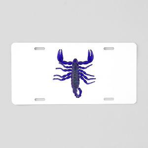 SCORPIO SHOWN Aluminum License Plate
