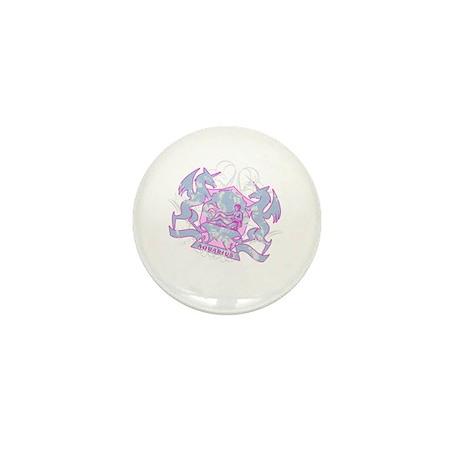 Aquarius Pink Zodiac Mini Button
