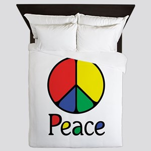 Emphatic Peace Colours Queen Duvet