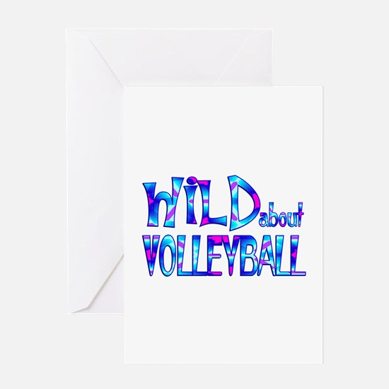 Wild About Volleyball Greeting Cards