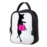 Silhouette of Chihuahua Going S Neoprene Lunch Bag