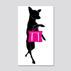 Silhouette of Chihuahua Going Sho 20x12 Wall Decal